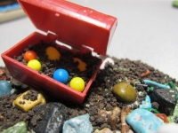 Treasure Chest, Beads, Chocolate Rocks, Krunch Chocolate